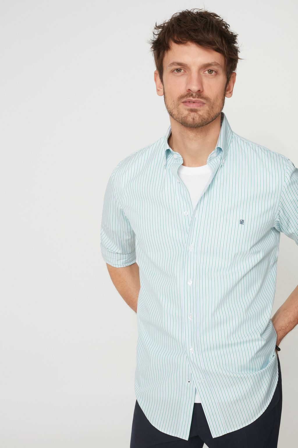 Striped structured shirt