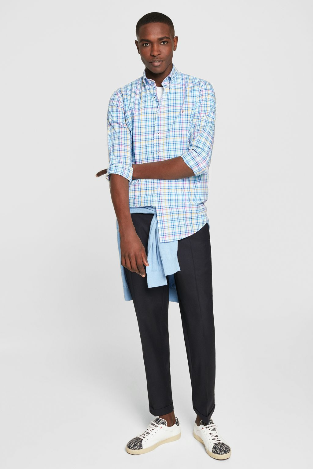 Checked poplin shirt