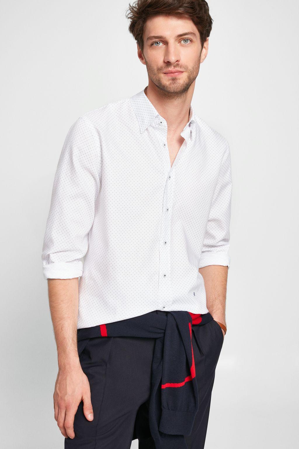 Geometric print Oxford shirt