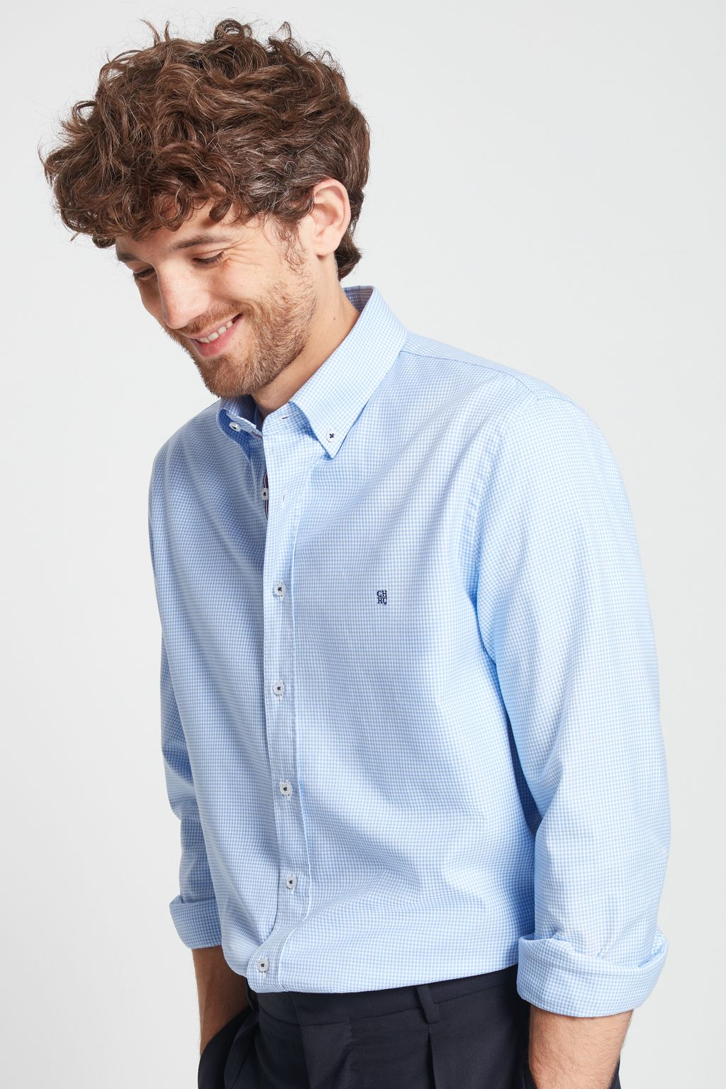 Structured houndstooth shirt