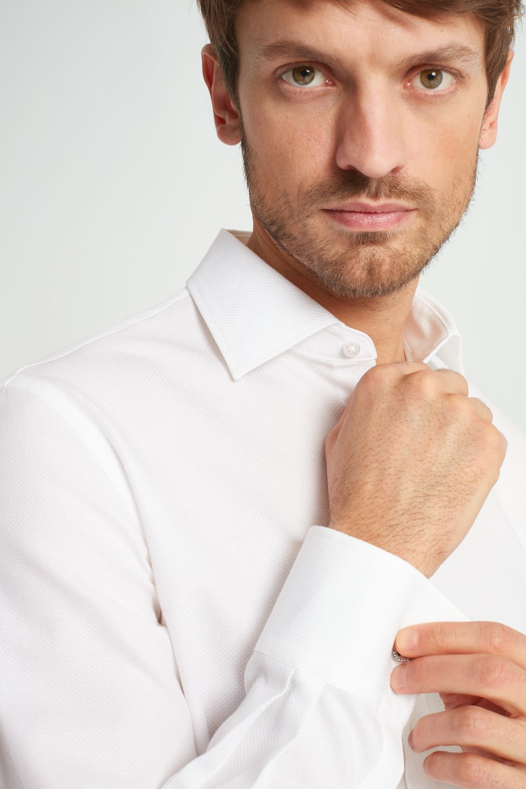 Structured shirt with Italian collar