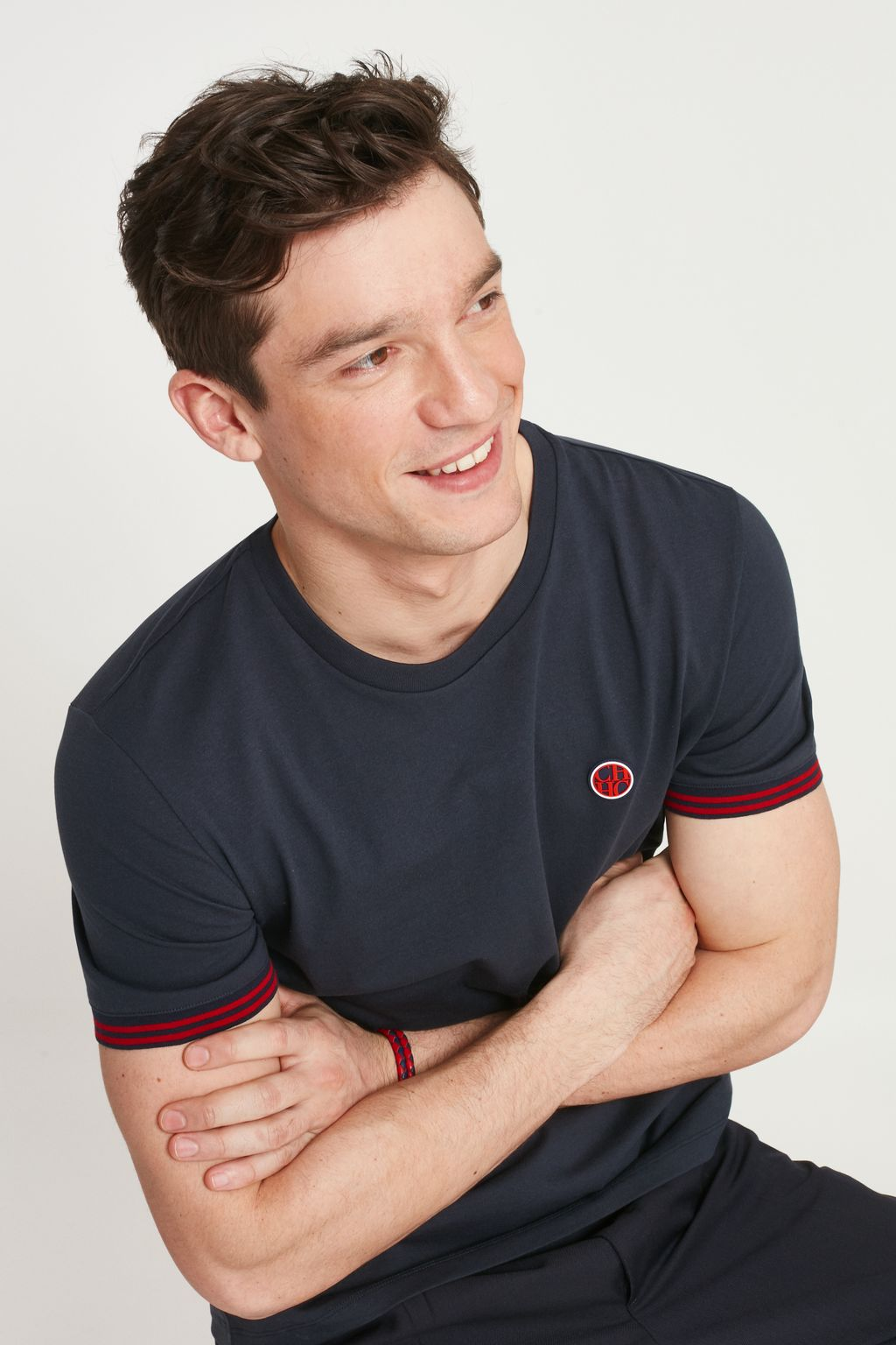 Cotton t-shirt with CH patch