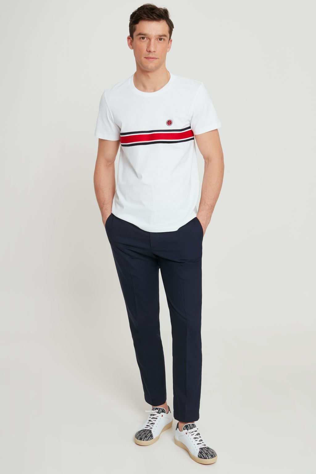 Cotton t-shirt with tricot