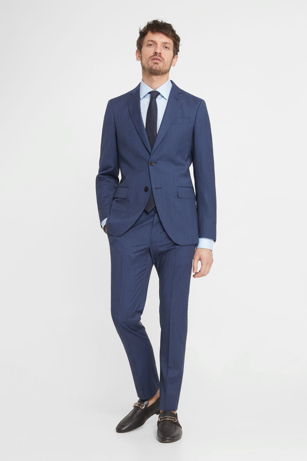 Cool wool suit trousers