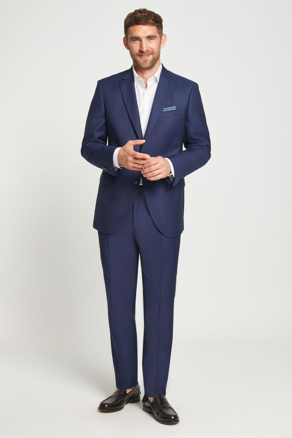 Classic virgin wool suit trousers