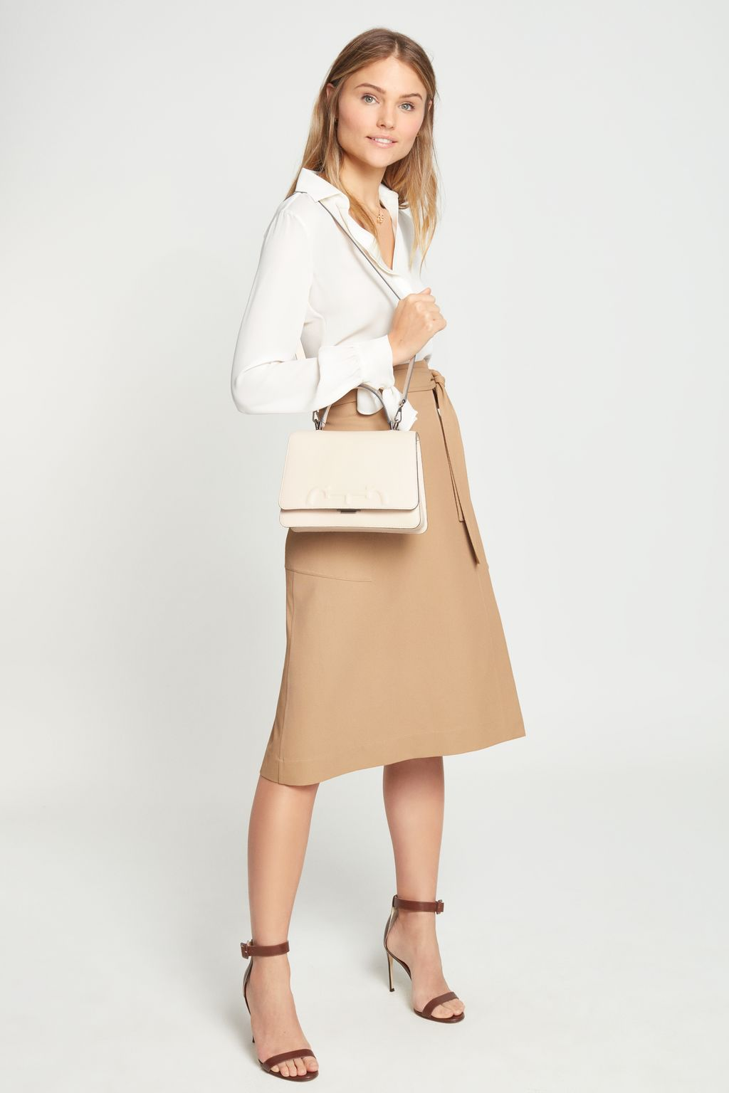 Cavalry twill wrap skirt