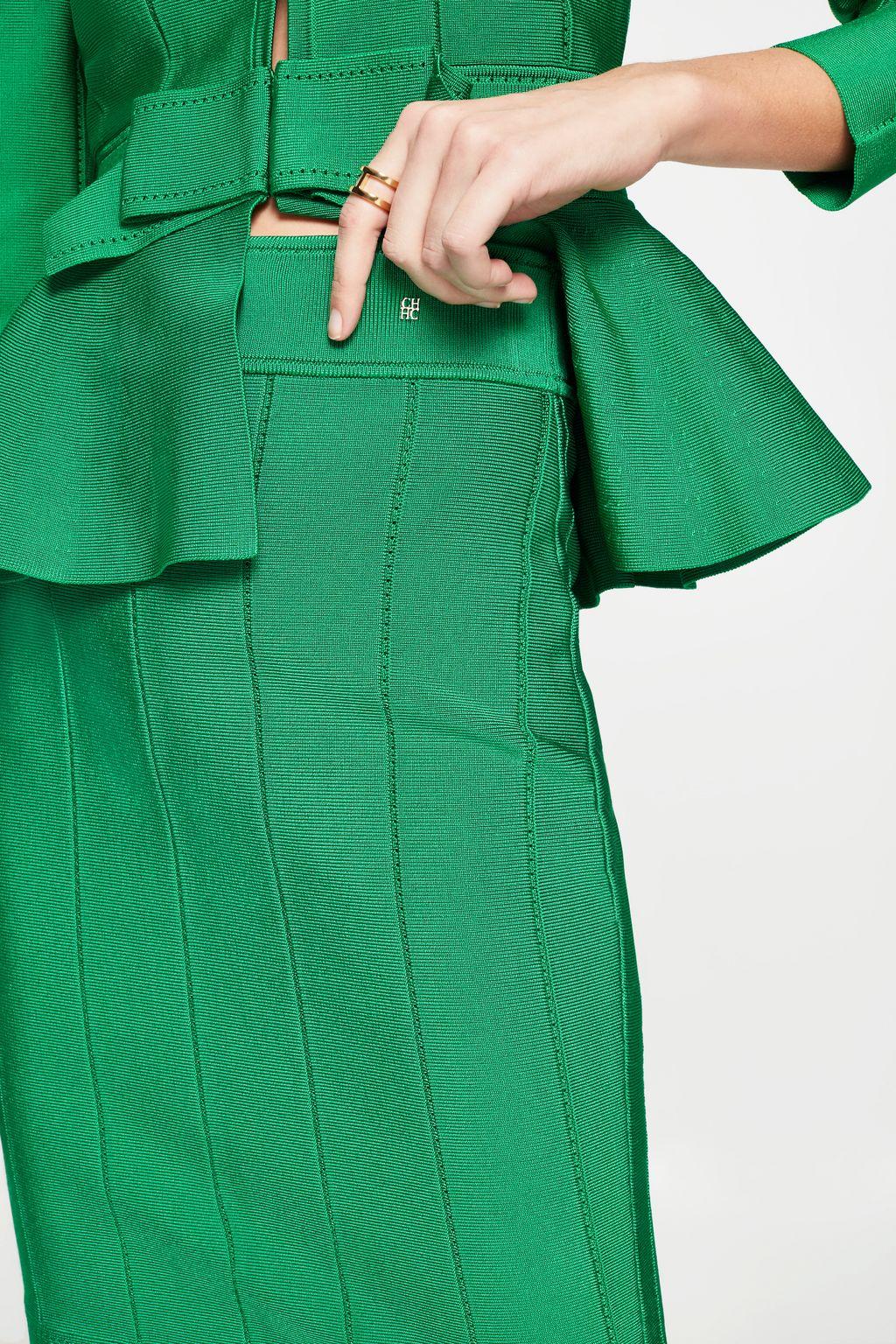 Stretch-knit skirt