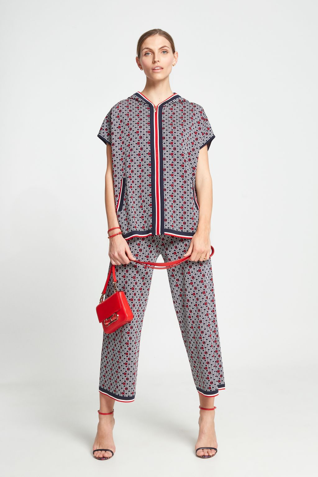 CH jacquard trousers