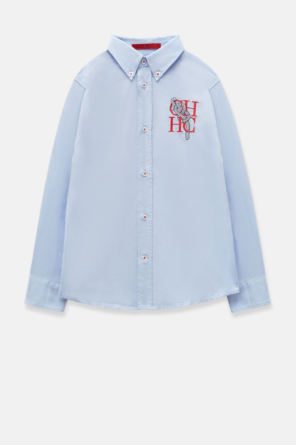 Oxford shirt with sailor embroidery