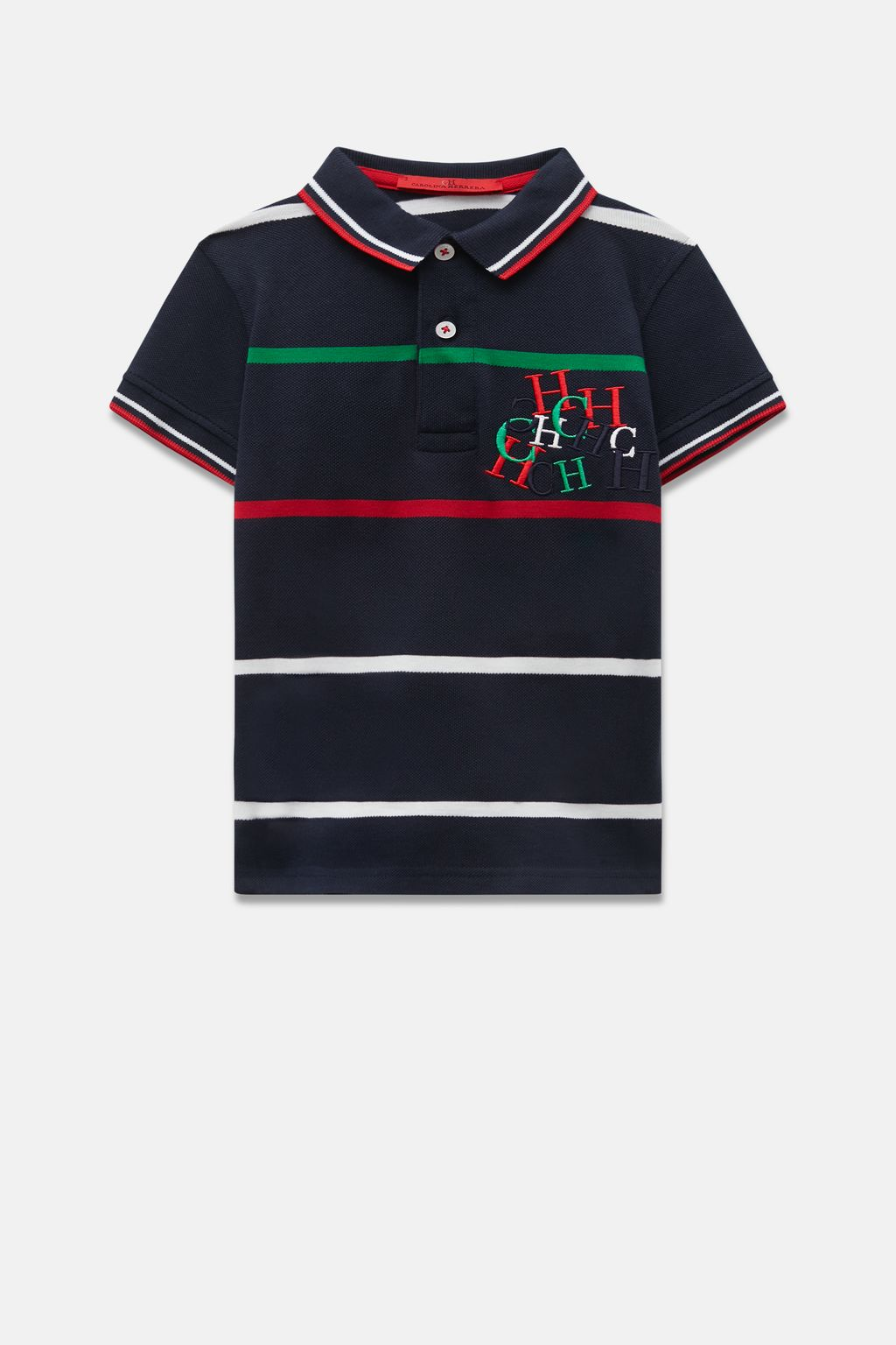 CH Swing striped piqué polo shirt