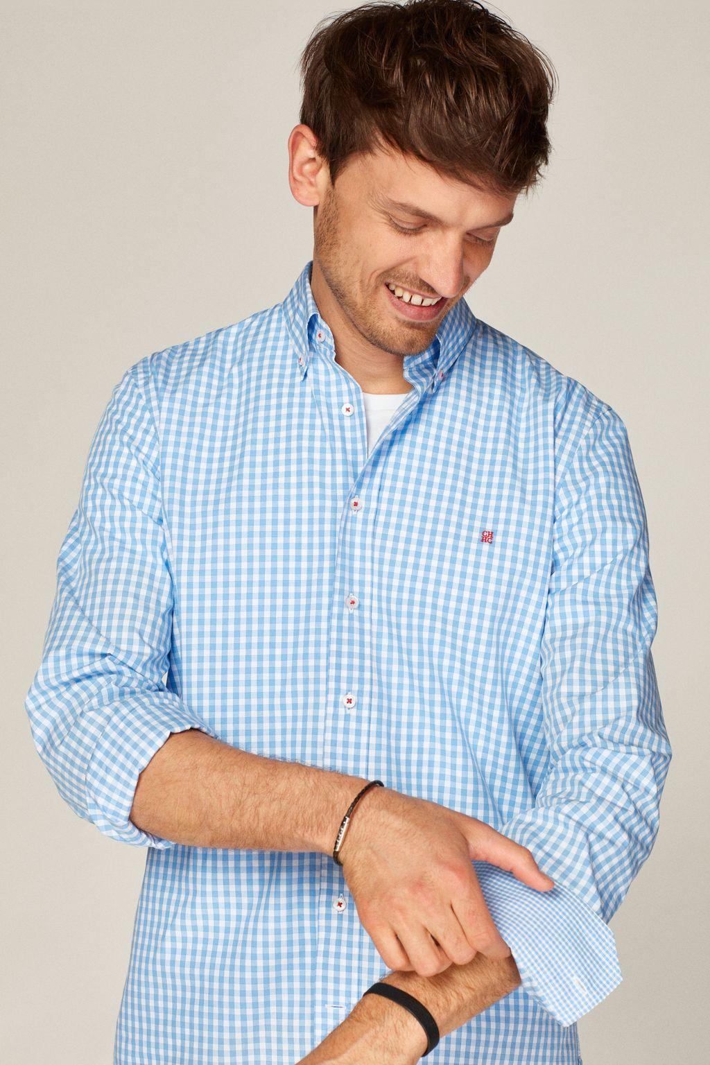 Vichy check poplin shirt