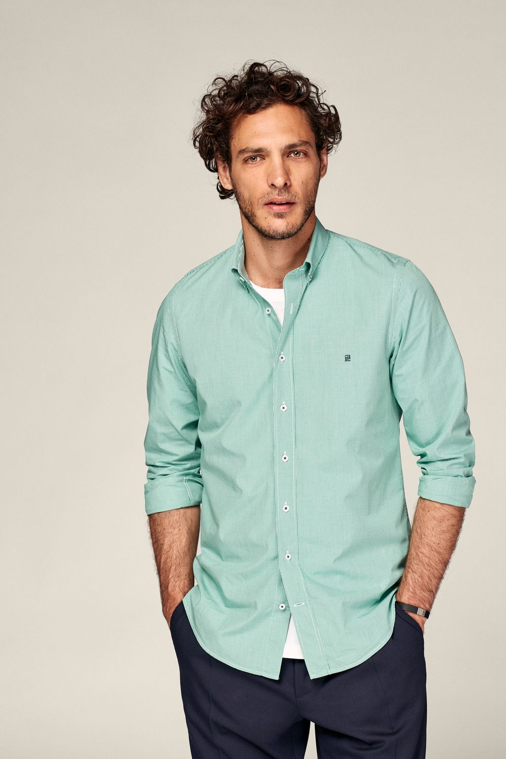 Vichy check poplin shirt