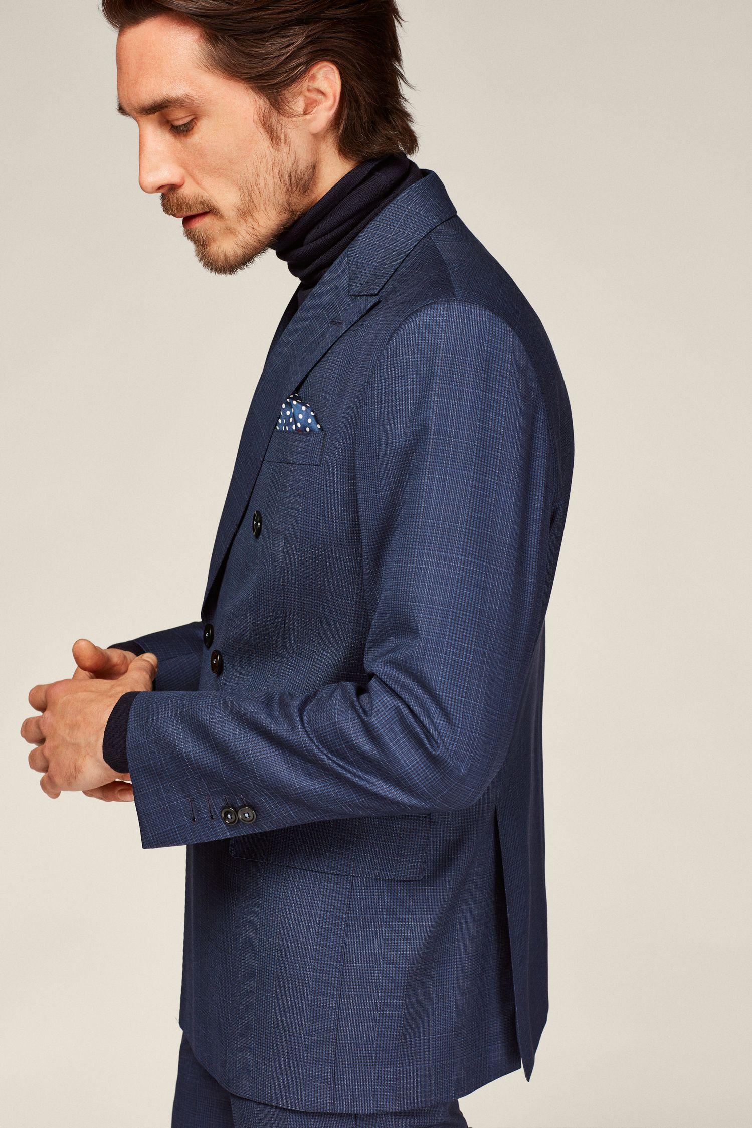 4d4b10f639035 DEEP BLUE Double-breasted wool suit blazer - | CH Carolina Herrera