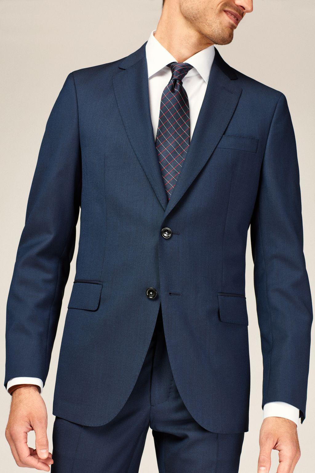 Virgin wool suit blazer