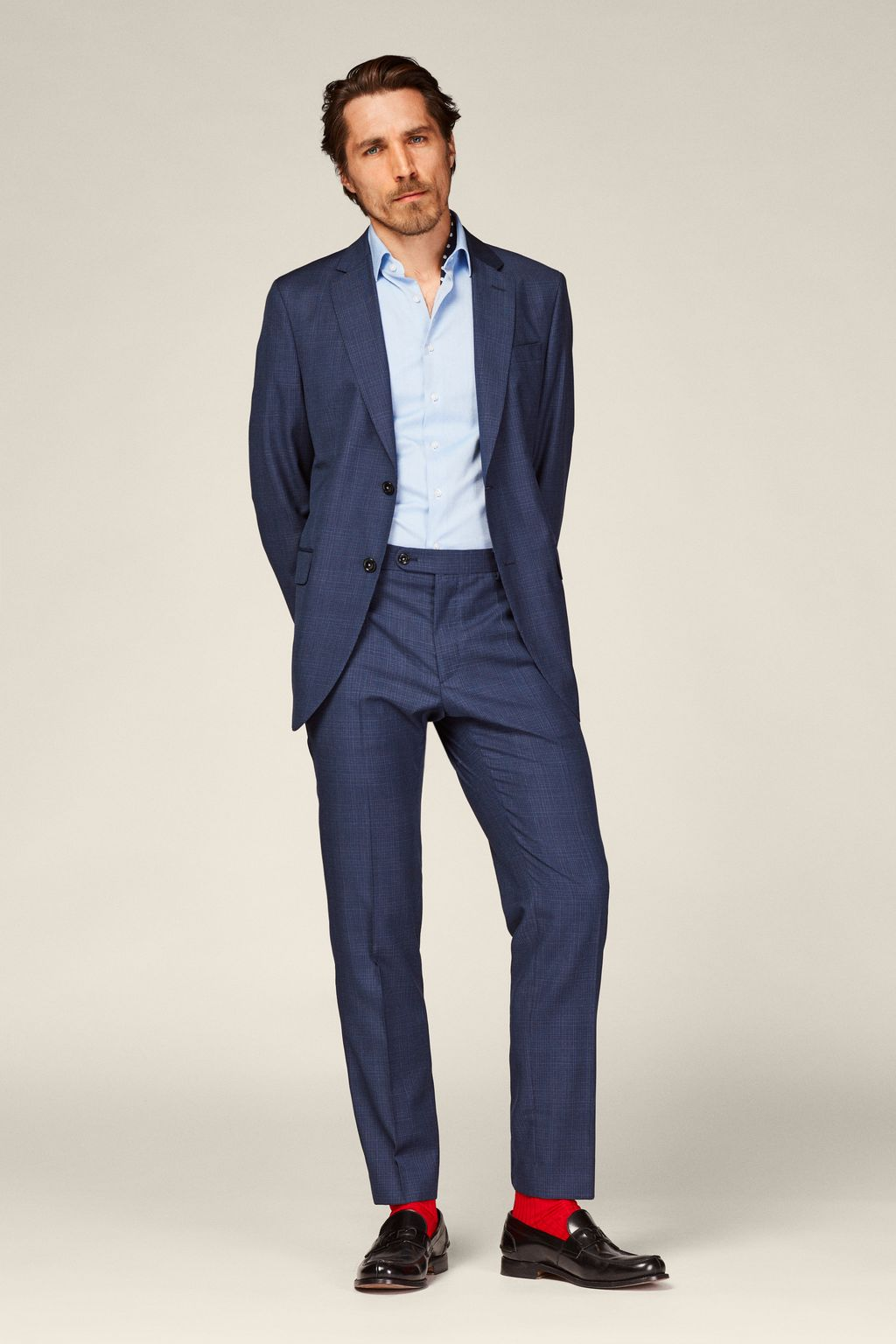 Virgin wool suit blazer