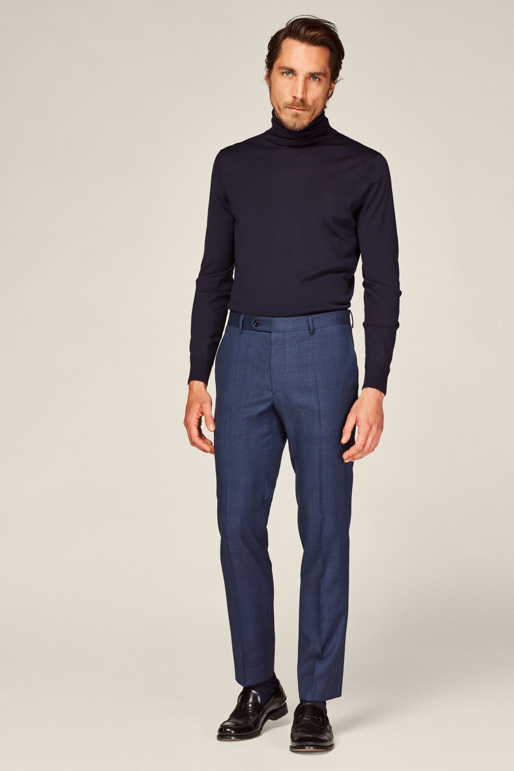 Virgin wool suit trousers