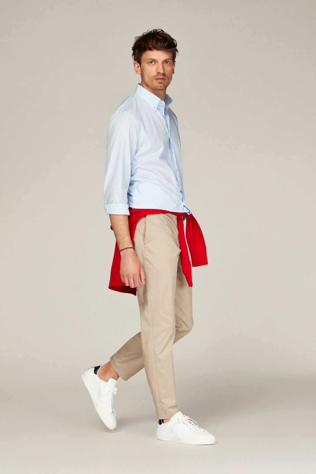 Regular fit stretch-twill chinos