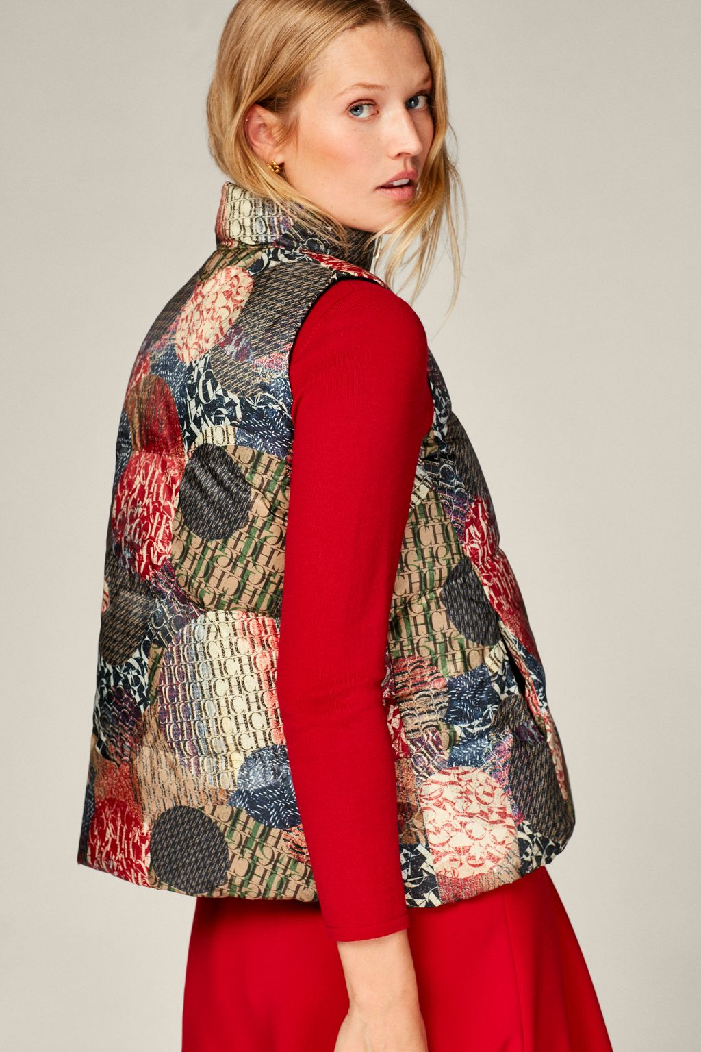 CH Dots reversible quilted gilet