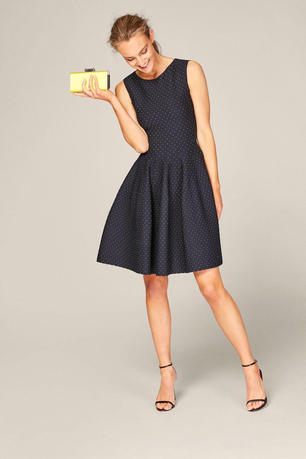 Fit-and-flare jacquard dress