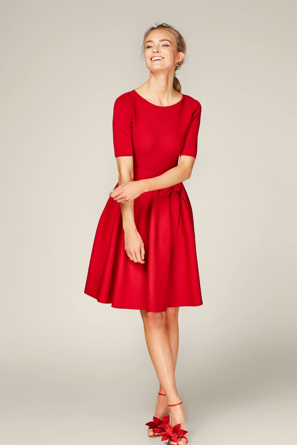Fit-and-flare stretch-knit dress