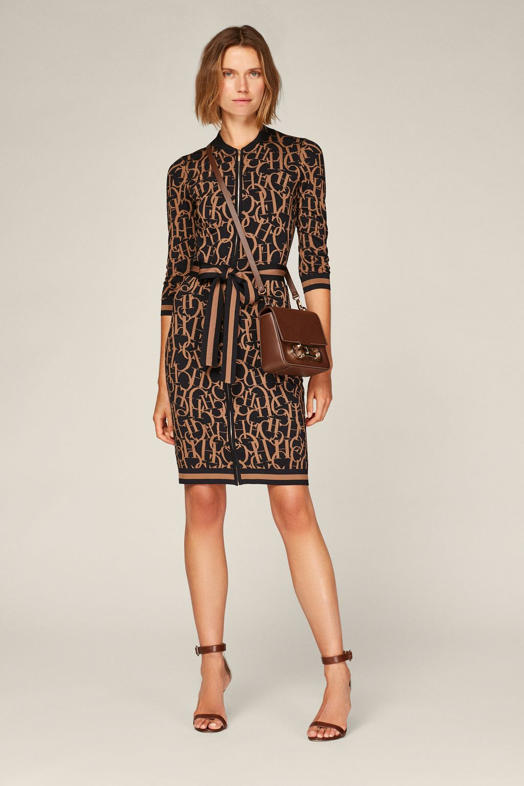 CH Swing jacquard dress