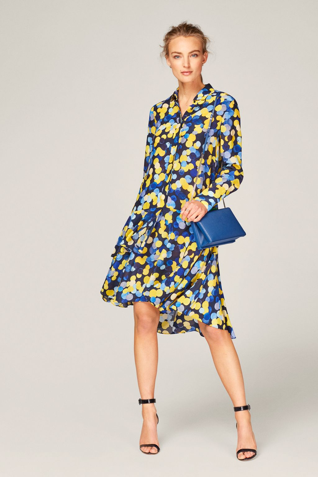 Confetti shirt dress