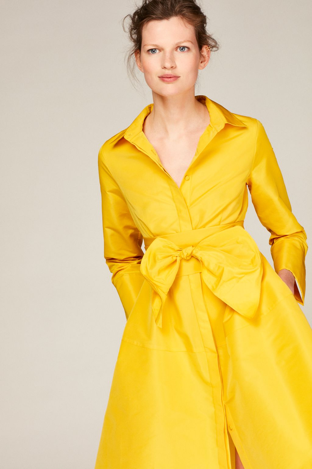 Taffeta shirt dress