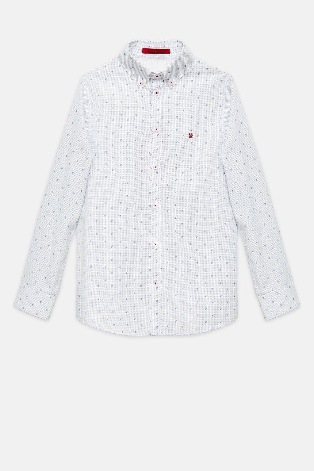 CH print poplin shirt