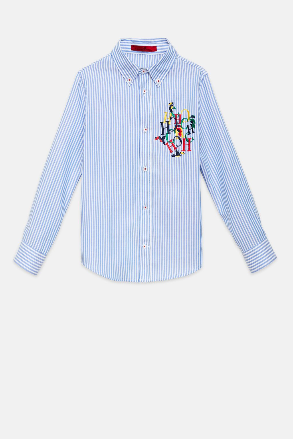 Striped pinpoint shirt