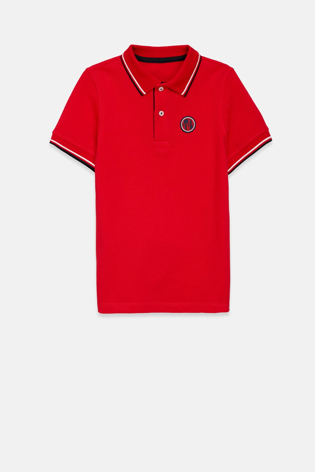 CH patch piqué polo shirt