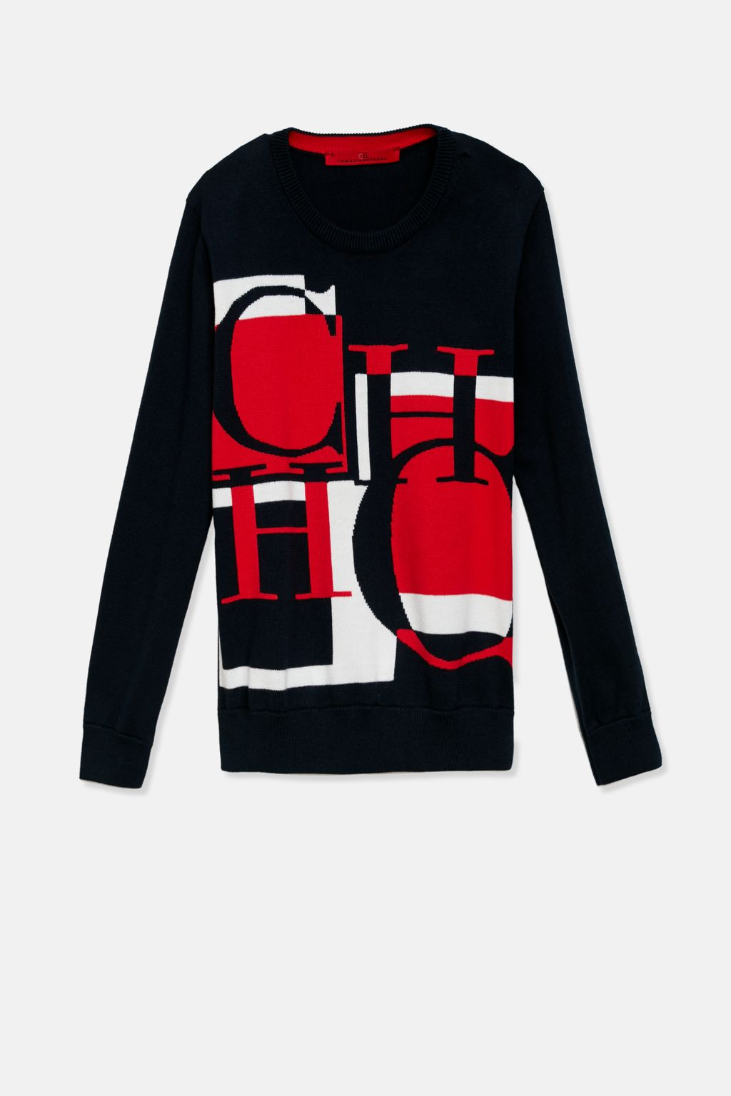CH intarsia knitted sweater