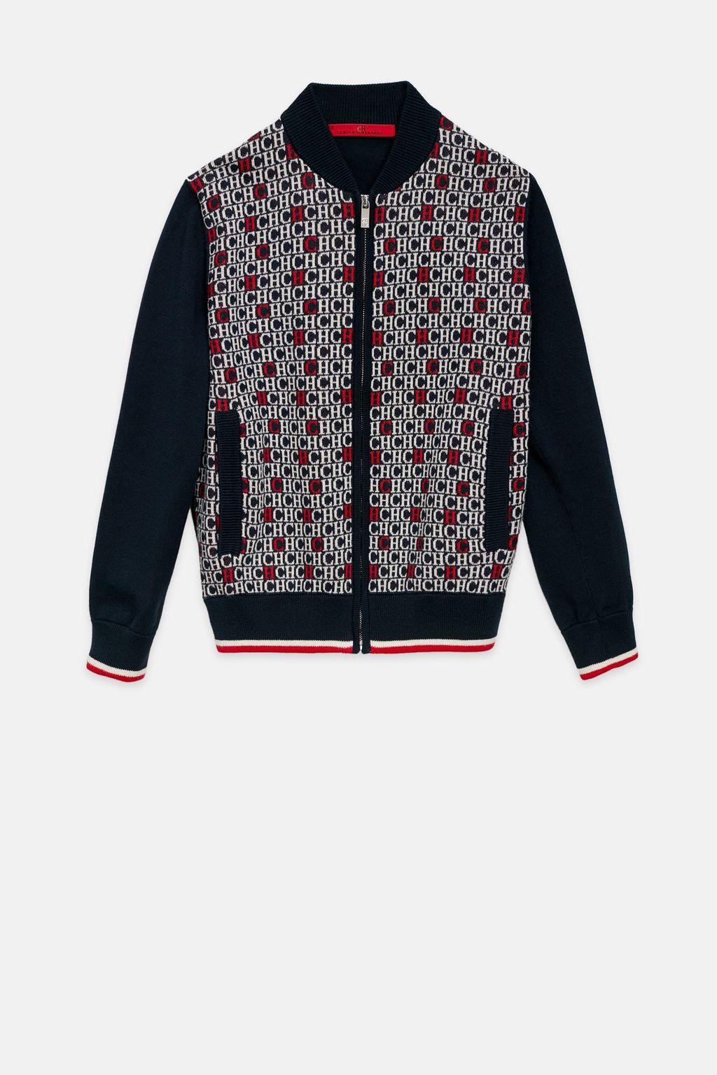 CH jacquard bomber jacket