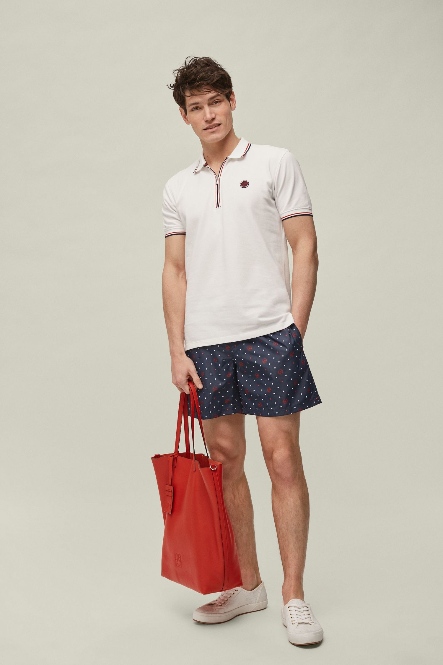 Polka dot swim shorts