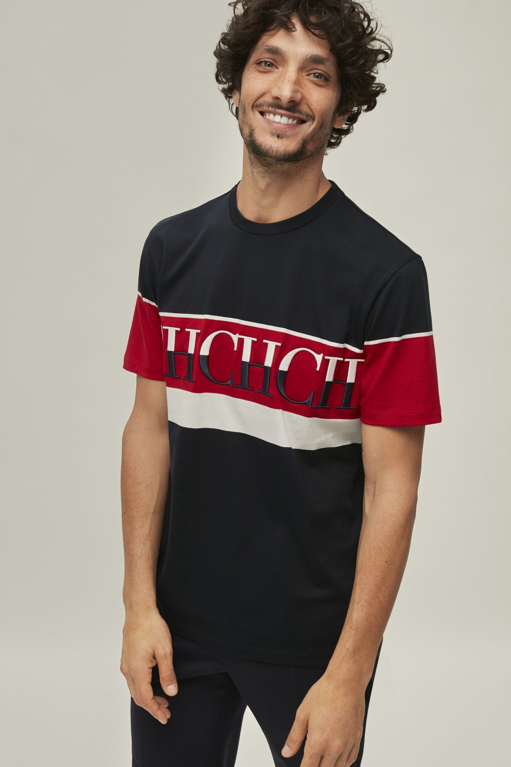 Cotton t-shirt with CH band