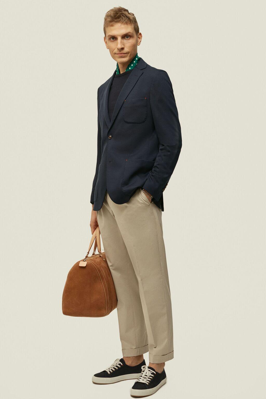 Slim fit wool blazer