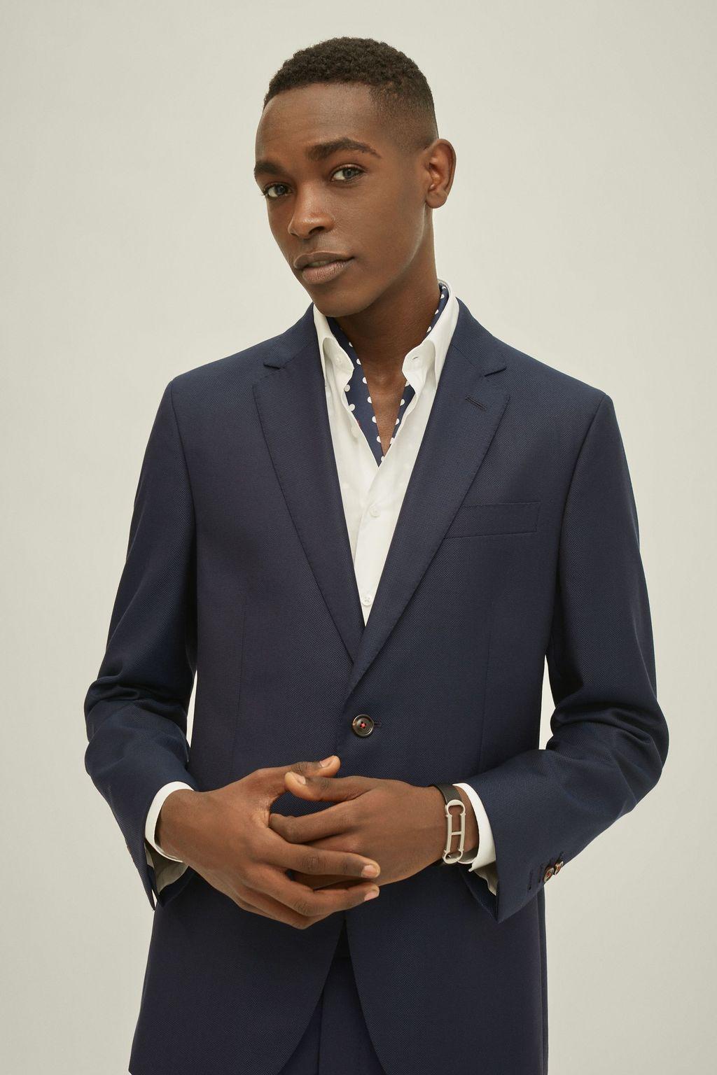 Virgin wool suit jacket
