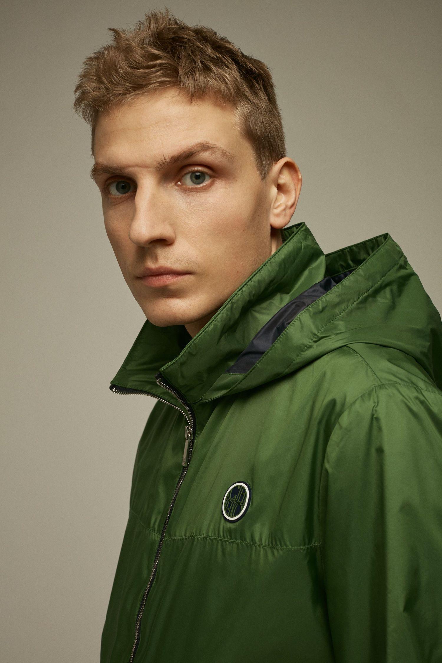 Nylon hooded jacket