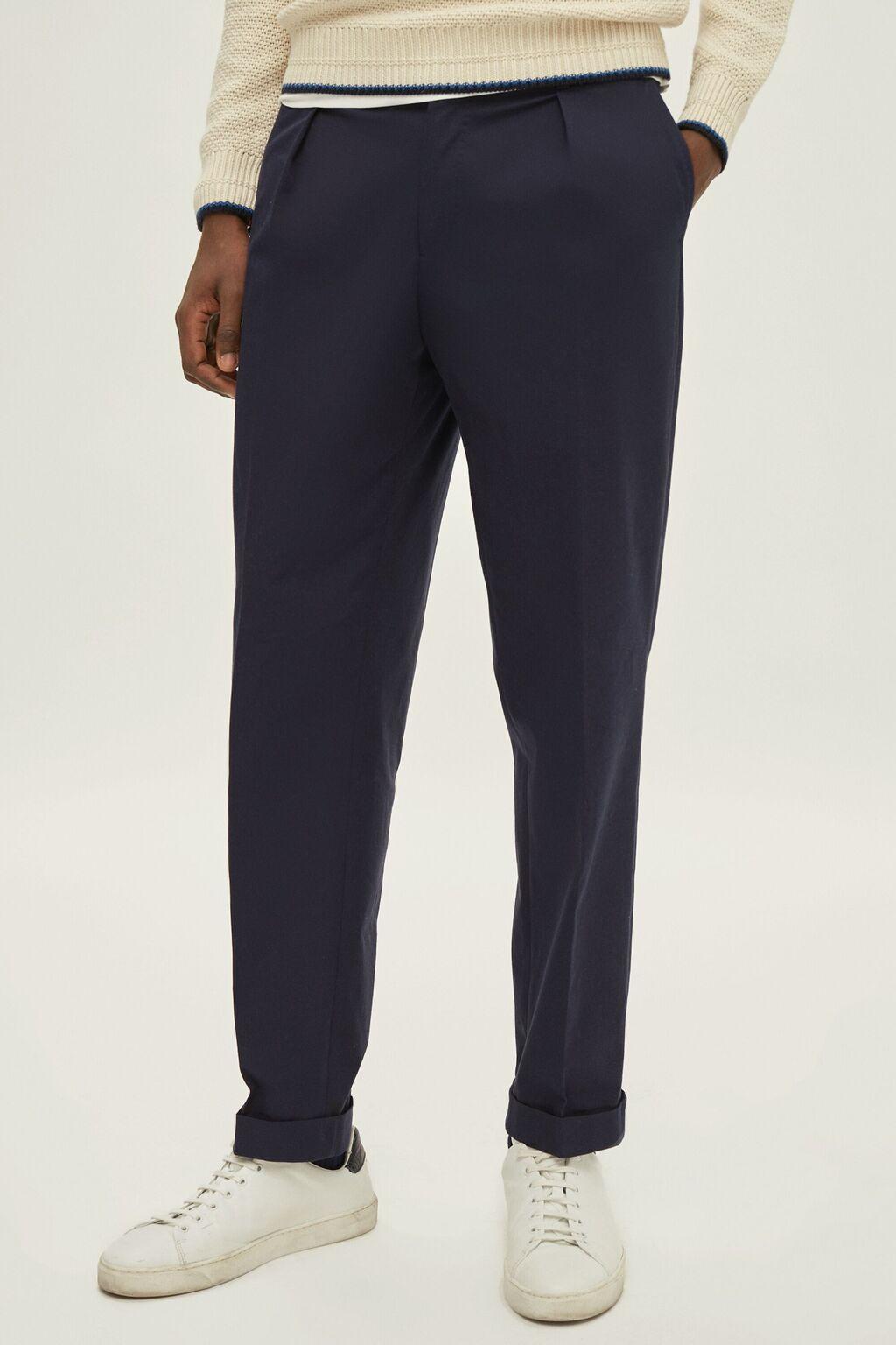 Regular fit stretch-twill pants