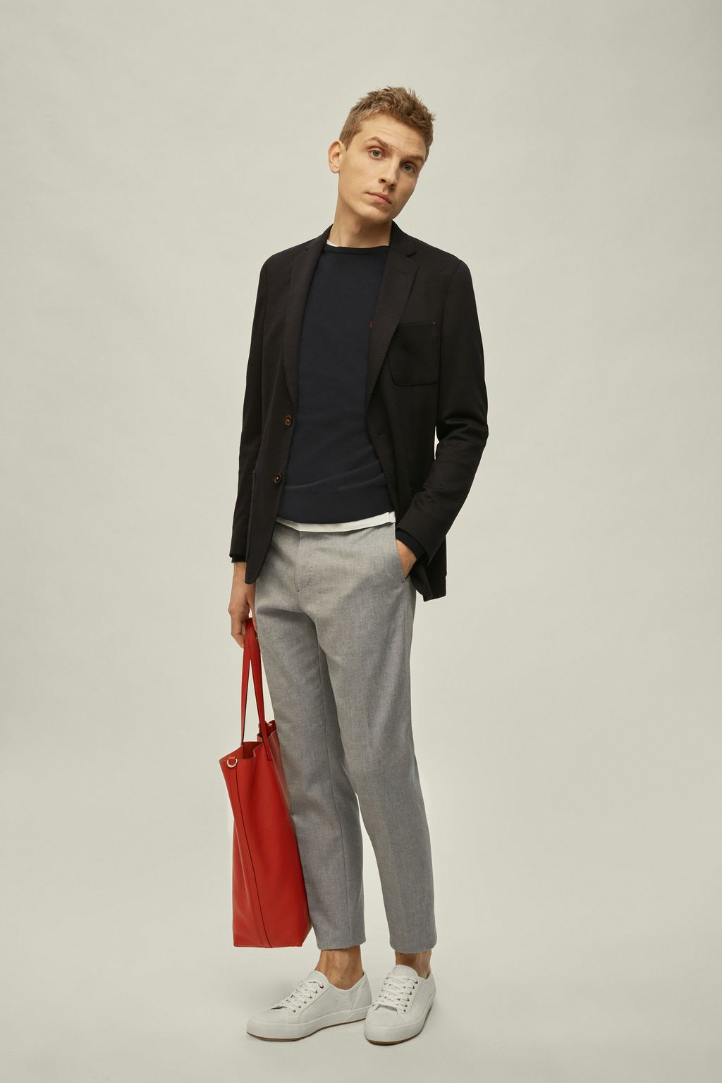 Relaxed fit Oxford pants