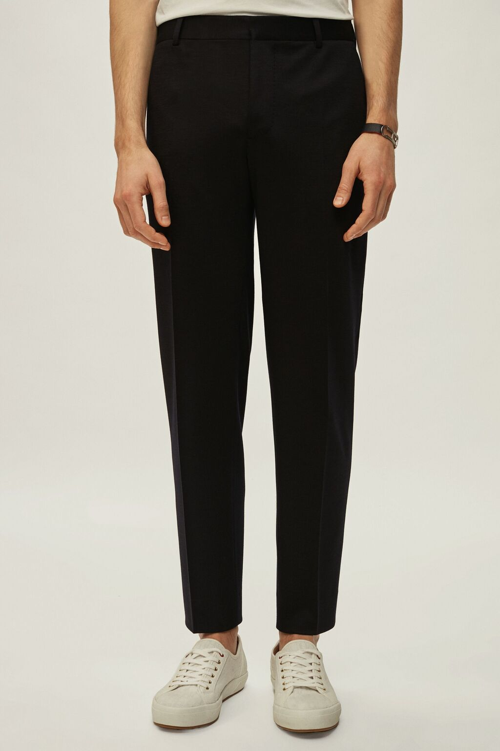 Relaxed fit virgin wool pants