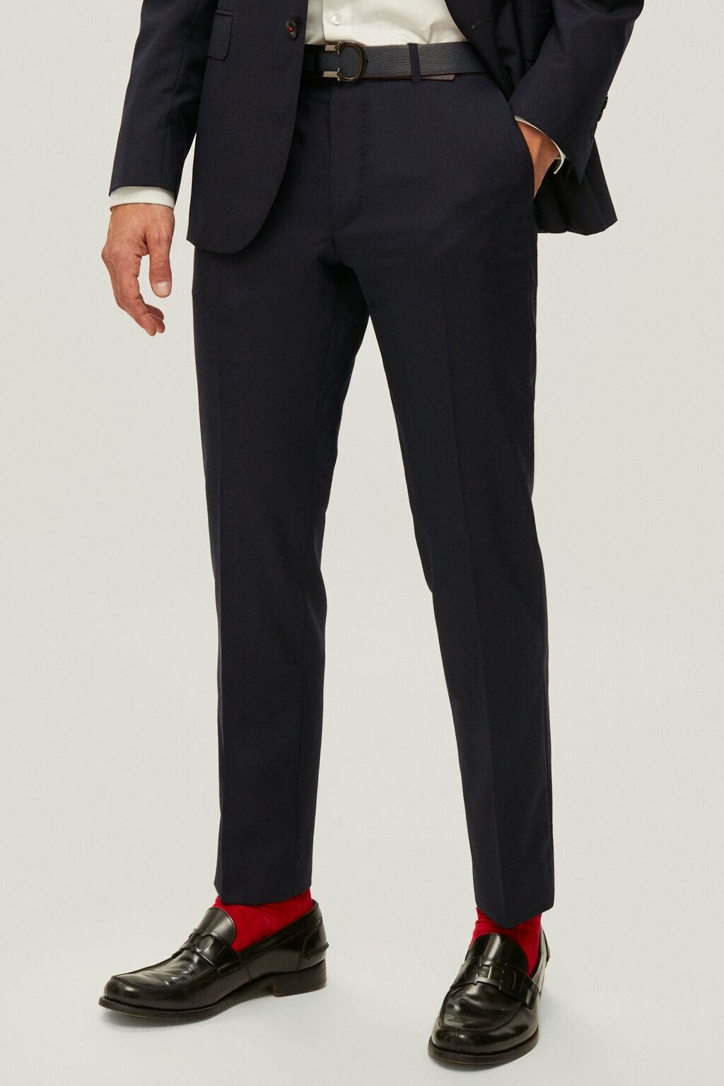 Cool wool suit pants