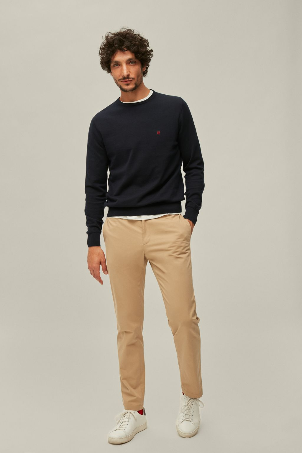 Regular fit stretch-cotton twill chinos