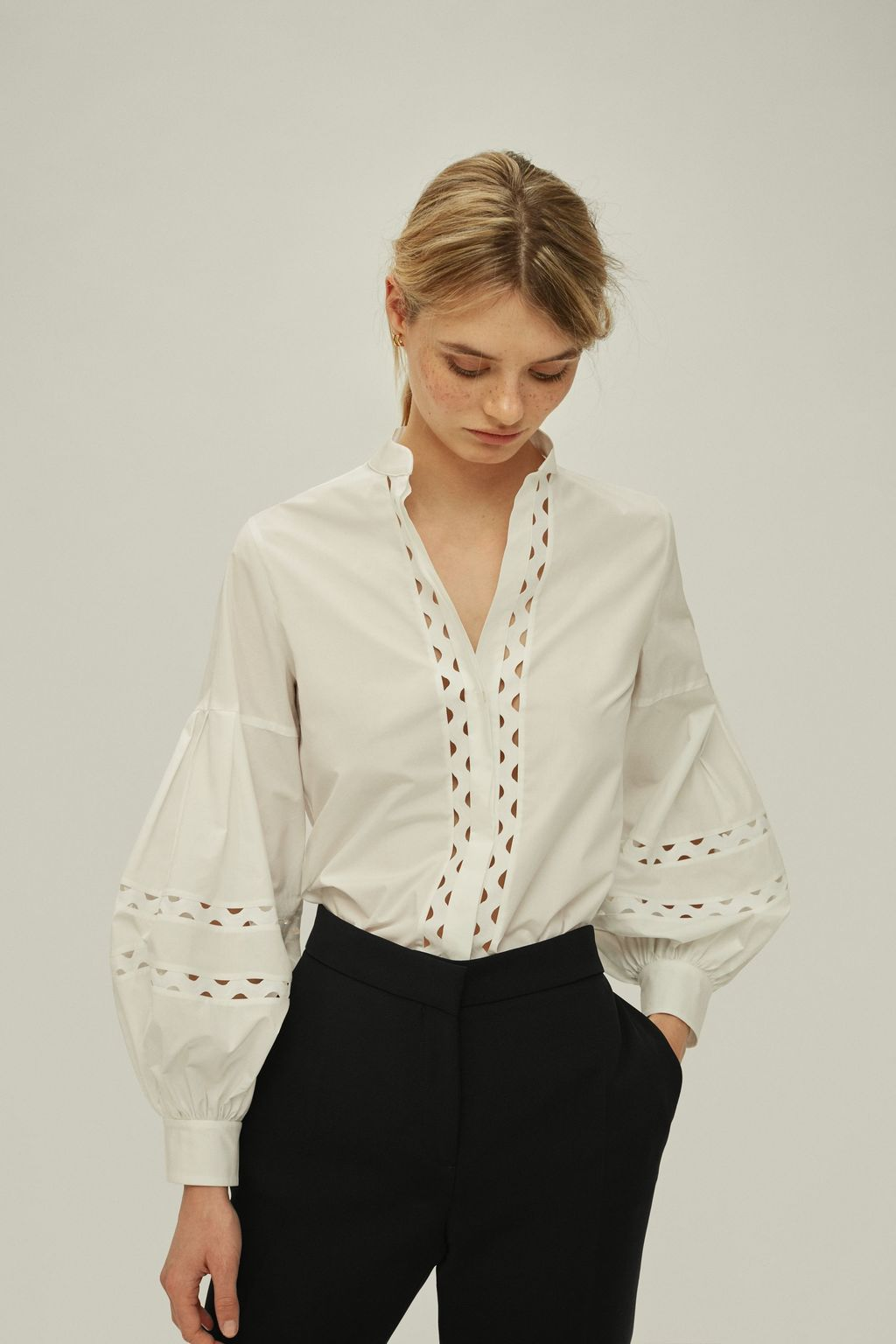 White Shirt with puffed sleeves