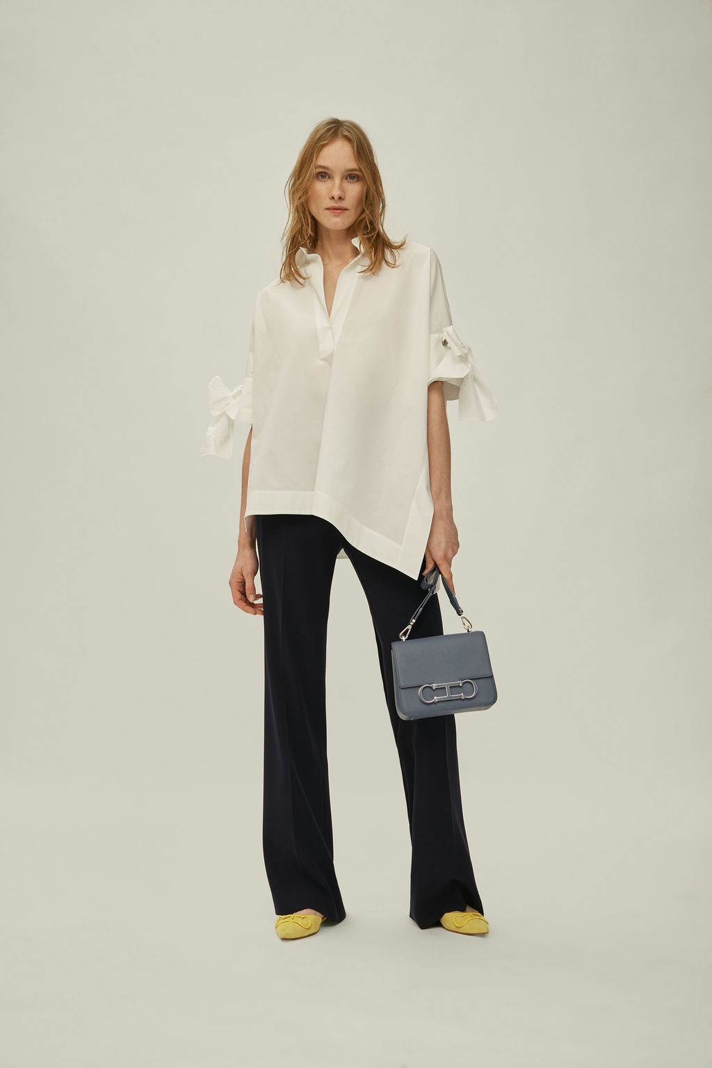 Asymmetric White Shirt