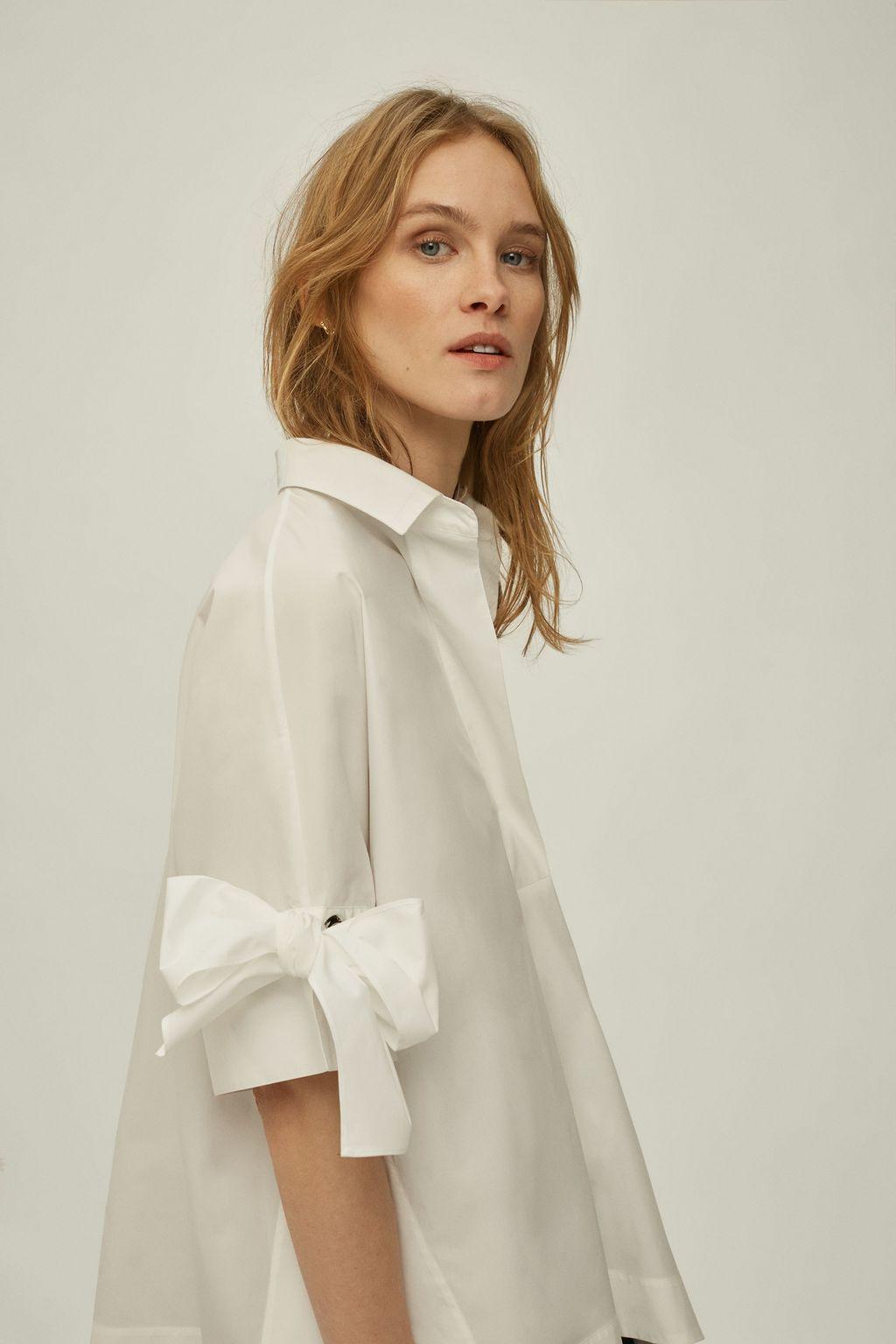 Asymmetric White Shirt