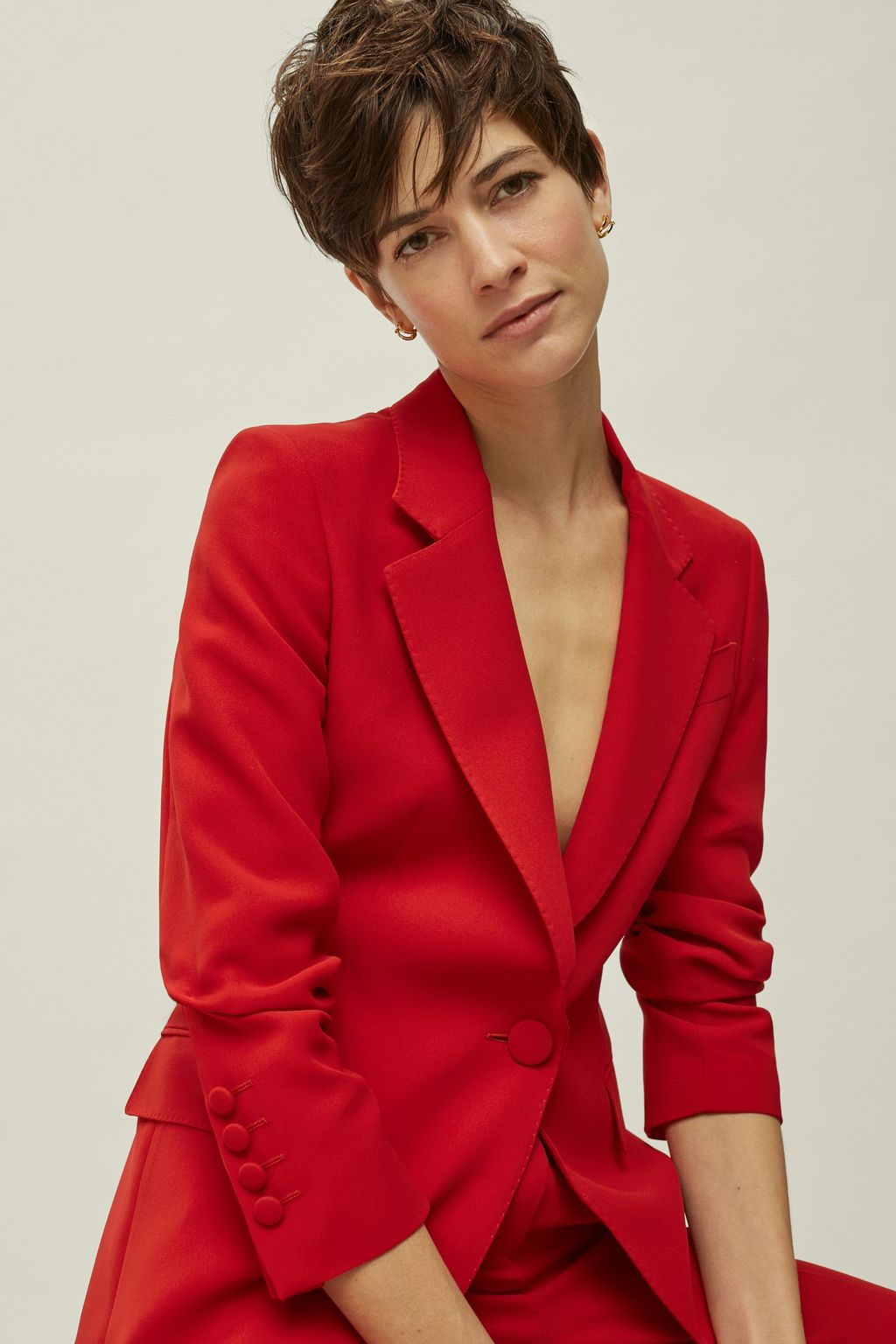 Crepe blazer