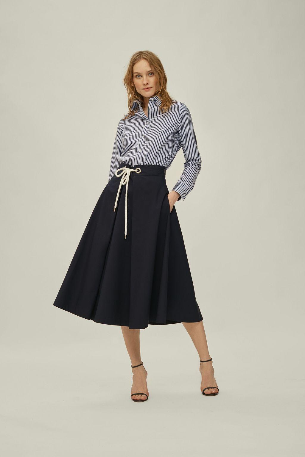 Midi skirt with ties