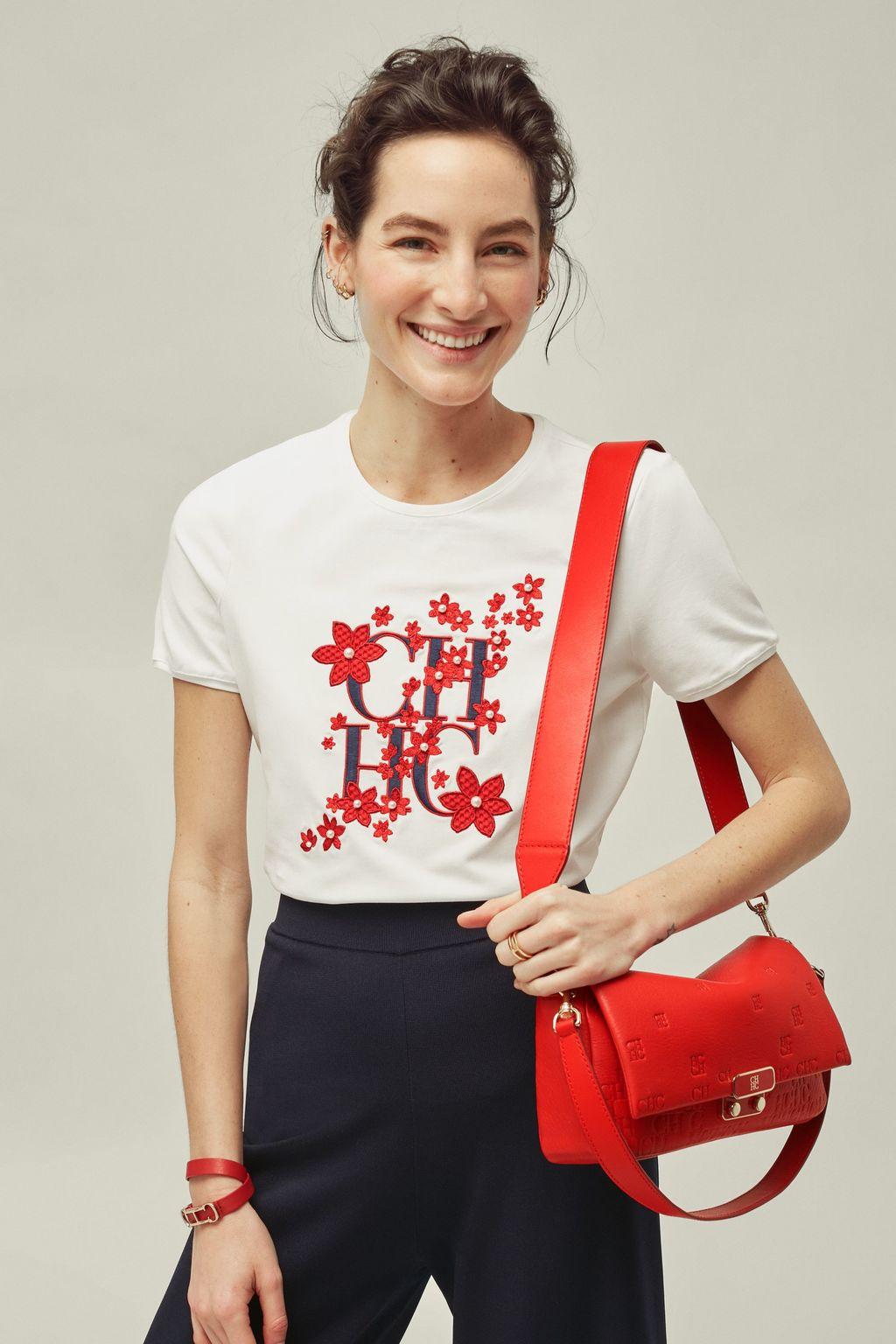 CH floral cotton t-shirt