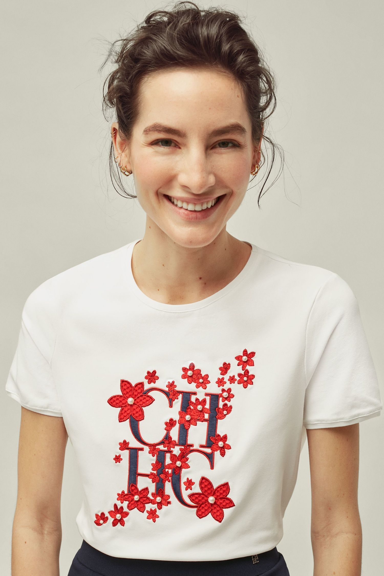 CH floral cotton t-shirt