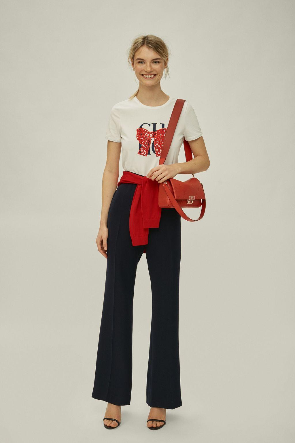 CH bow cotton t-shirt